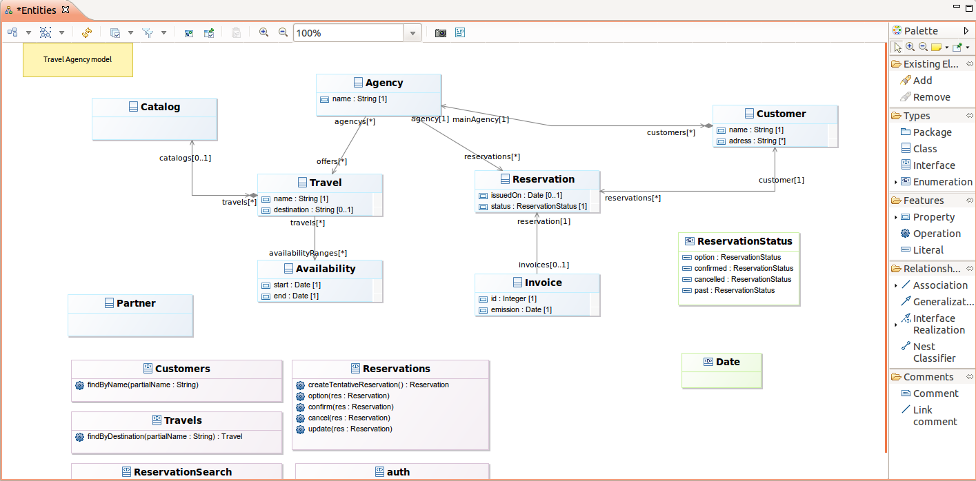 when a diagram is opened by the user it opens in the diagram editor - Eclipse Uml Diagram Plugin