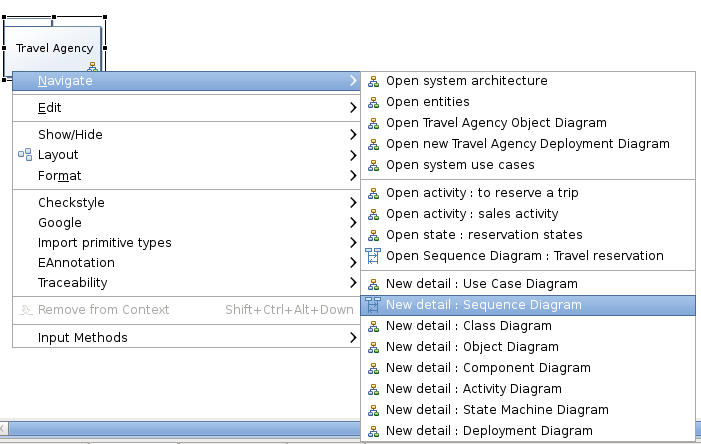 Getting started from here you can navigate to existing diagrams by right clicking on the model ccuart Images
