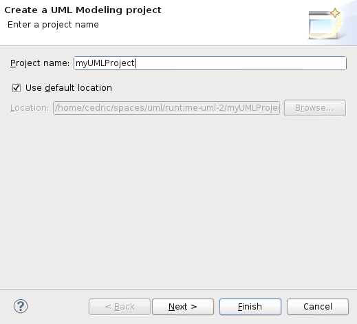 Getting started when you press the finish button the projects gets created and automatically enabled the uml viewpoints ccuart